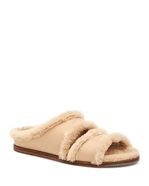 Aquatalia Women's Iminan Shearling & Leather Slippers