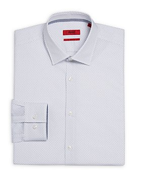 HUGO - Koey Cotton Micro Print Slim Fit Dress Shirt