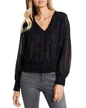 1.STATE - Polka Dot Smocked Top