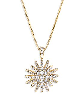 David Yurman - Starburst Pendant Necklace in 18K Yellow Gold with Diamonds, 18""
