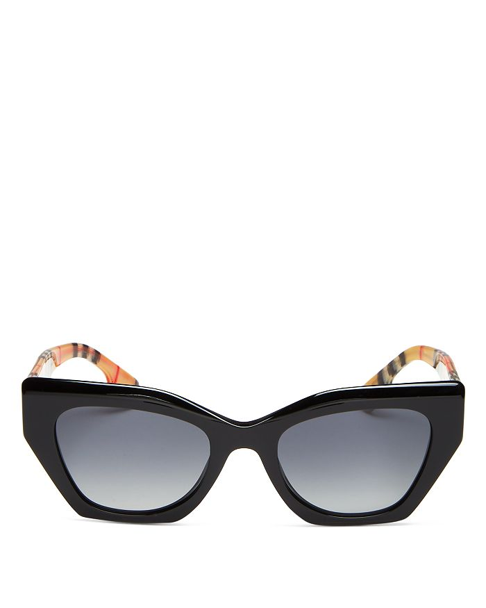 Burberry - Women's Polarized Cat Eye Sunglasses, 52mm