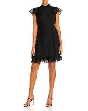 Textured Chiffon Ruffle Dress