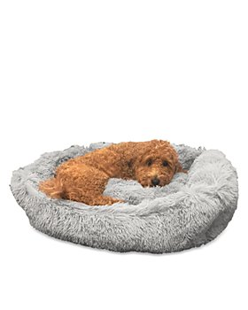 Precious Tails - Super Lux Shaggy Cuddler Pet Bed, Large