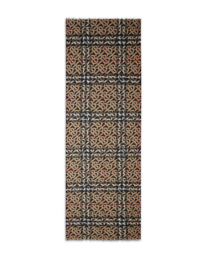 Burberry - Monogram Wool-Silk Check Scarf