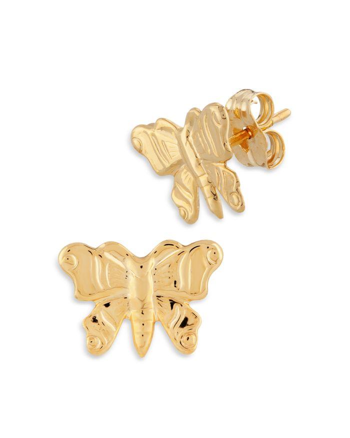 Bloomingdale's Embossed Butterfly Stud Earrings in 14K Yellow Gold - 100% Exclusive    Bloomingdale's