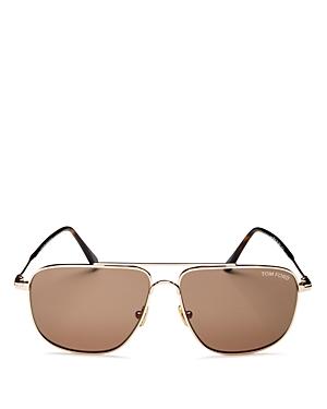 Tom Ford Men\\\'s Brow Bar Aviator Sunglasses, 58mm-Jewelry & Accessories