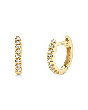Moon & Meadow - 14K Yellow Gold Diamond Huggie Hoop Earrings - 100% Exclusive