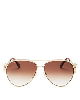 Salvatore Ferragamo - Women's Brow Bar Aviator Sunglasses, 60mm