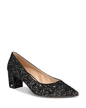 kate spade new york - Women's Menorca Shimmer Block Heel Pumps