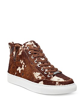 J/Slides - Women's Ludlow Calf Hair Lace Up Sneakers