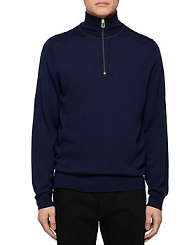 PS Paul Smith - Merino Wool Zip-Up Sweater