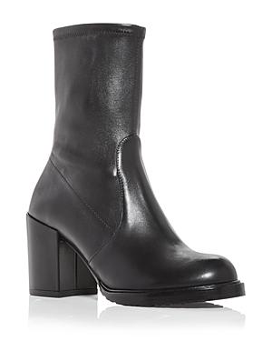 Stuart Weitzman Mid heels WOMEN'S DALENNA BLOCK HEEL BOOTS