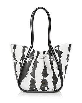 Proenza Schouler - Large Tie Dye Stripe Ruched Leather Tote