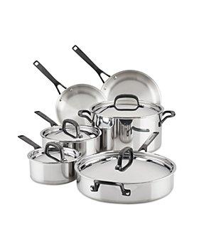 KitchenAid - 10 Piece 5 Ply Copper Core Cookware Set