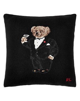 "Ralph Lauren - Martini Bear Throw Pillow, 20"" x 20"""
