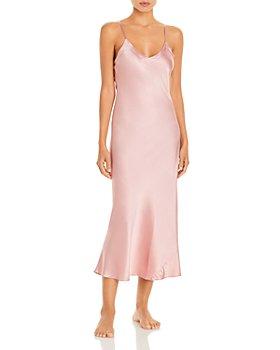 GINIA - Silk V-Neck Nightgown