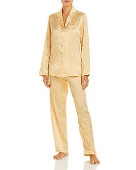 GINIA - Snake Print Silk Long Pajama Set