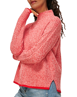 Whistles Tipped High Neck Wool Knit Sweater