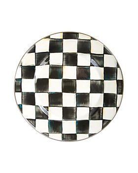 Mackenzie-Childs - Courtly Check Enamel Dinner Plate
