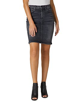 Hudson - High Rise Denim Skirt in Ghosts