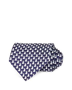 Salvatore Ferragamo - Dogs Neat Silk Classic Tie
