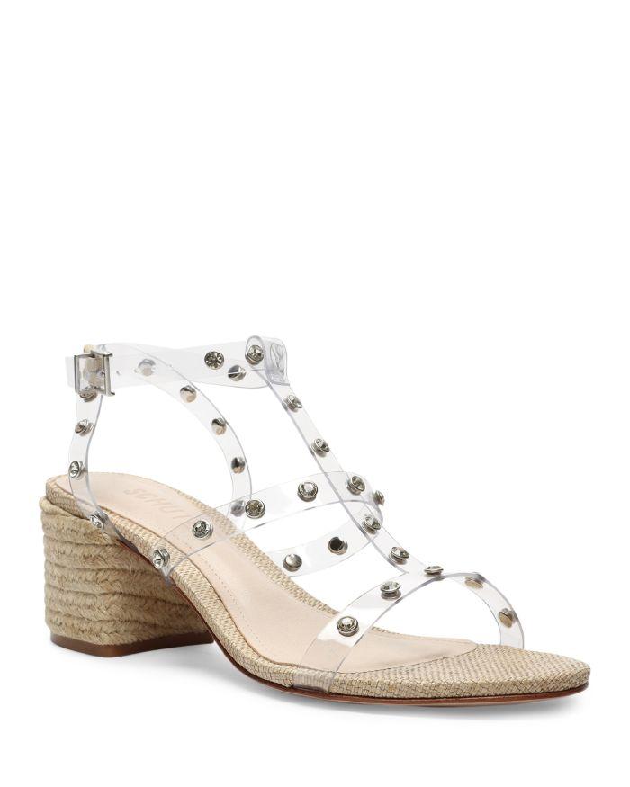SCHUTZ Women's Lisbeth Crystal Embellished Transparent Strap Espadrille Sandals  | Bloomingdale's