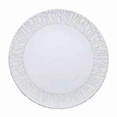 "Rosenthal - ""Tac 02 Skin Platinum"" Rim Soup Plate"