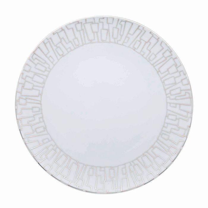 """Rosenthal - """"Tac 02 Skin Platinum"""" Dinner Plate"""