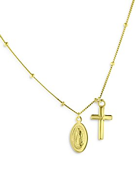"""Bloomingdale's - Religious Charm Necklace in 14K Yellow Gold, 16"""" - 100% Exclusive"""