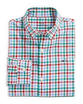 Vineyard Vines - Boys' Checked Cotton Shirt - Little Kid, Big Kid