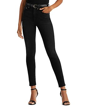 Ralph Lauren - High Rise Skinny Ankle Jeans in Empire Black Wash