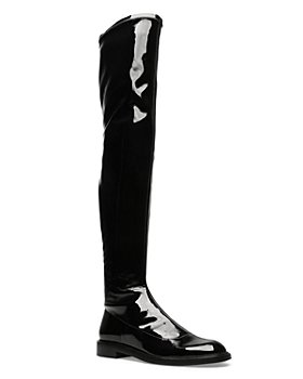SCHUTZ - Women's Kaolin Over The Knee Patents Leather Boots