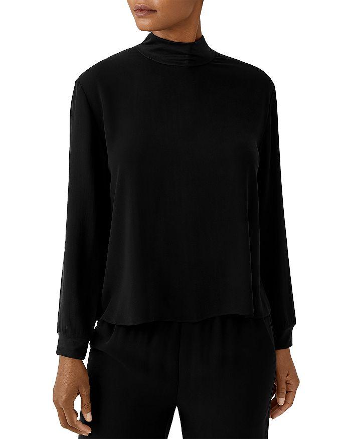 Eileen Fisher - High Neck Silk Top