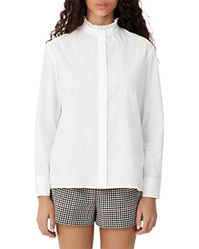 Maje - Carlina Pleated Collar Blouse