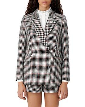 Maje - Voldita Double-Breasted Check Jacket