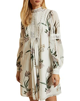 Ted Baker - Elderflower Lace Trimmed Tunic Dress