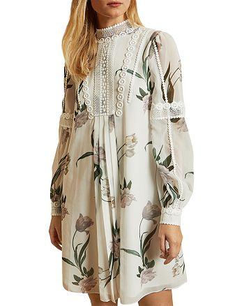 Ted Baker - Elderflower Lace Trimmed Tunic Dress