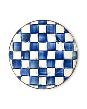 Mackenzie-Childs - Royal Check Salad Plate