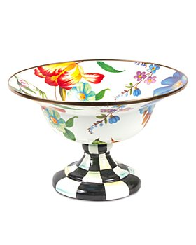 Mackenzie-Childs - Flower Market Large Compote - White