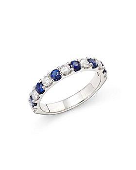 Bloomingdale's - Sapphire & Diamond Eternity Band in 14K White Gold - 100% Exclusive