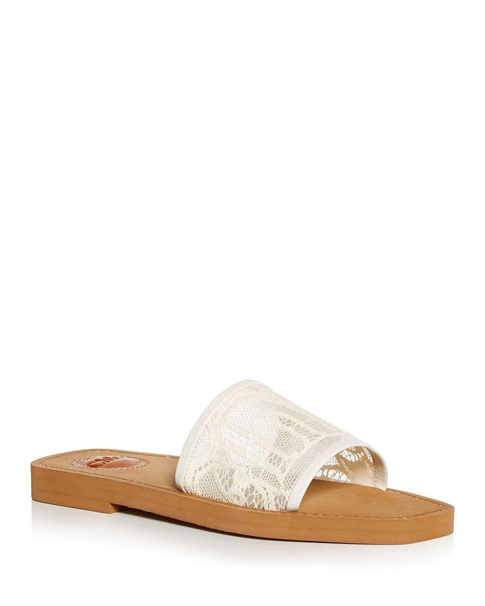 Chloé - Women's Woody Lace Slide Sandals