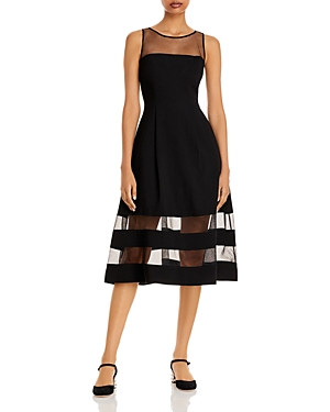 Illusion Fit-and-Flare Dress