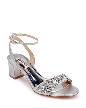 Women's Ivanna Crystal Embellished Block Heel Sandals