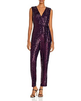 MILLY - Metallic Micro-Stretch Jumpsuit