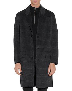 Sandro - Less Wool Blend Checked Coat