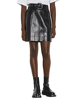 Sandro - Leena Leather Mini Skirt