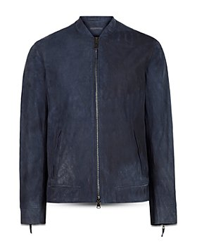 John Varvatos Collection - Regular Fit Leather Racer Jacket