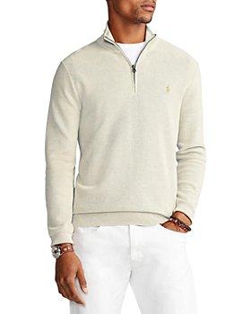 Polo Ralph Lauren - Regular Fit Cotton Mesh Quarter Zip Pullover