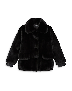 The Kooples CROPPED FAUX FUR JACKET