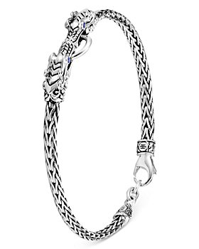 JOHN HARDY - Sterling Silver Legends Naga Blue Sapphire Dragon Link Bracelet